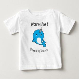 T-shirt Pour Bébé Licorne de Narwhal de la mer pour des garçons et