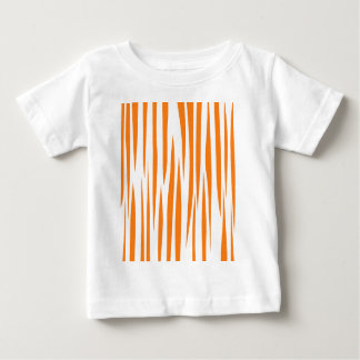 T-shirt Pour Bébé Lignes sauvages de conception oranges sur le blanc