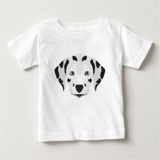 T-shirt Pour Bébé L'illustration poursuit le Dalmate de visage