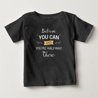 T-shirt Pour Bébé L'inspiration croient que vous pouvez citer la