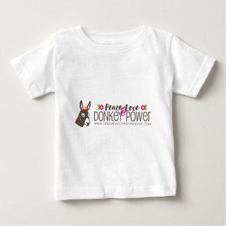 T-shirt Pour Bébé Logo de puissance d'âne d'amour de paix