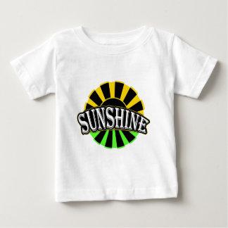 T-shirt Pour Bébé Logo vert noir de soleil