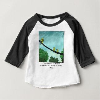 T-shirt Pour Bébé L'oiseau a coupé le câble