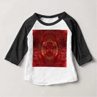 T-shirt Pour Bébé L'or lumineux et le motif 3D orange conçoivent