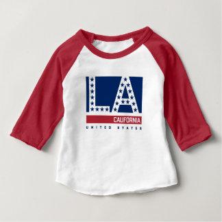 T-shirt Pour Bébé Los Angeles, la Californie horizon rouge, blanc et