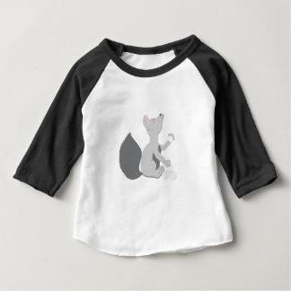 T-shirt Pour Bébé Loup avec des boules de neige