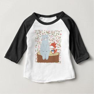 T-shirt Pour Bébé Loup mignon vintage de renard d'été de ressort et