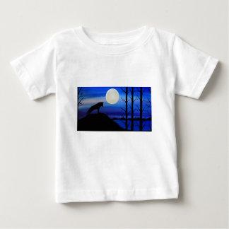 T-shirt Pour Bébé loup sur la montagne