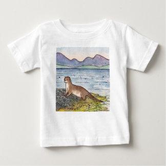 T-shirt Pour Bébé loutre du loch