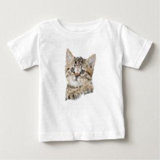 T-shirt Pour Bébé Low poly chaton
