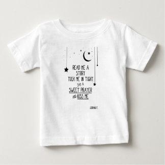 T-shirt Pour Bébé Lu m'une histoire avec les étoiles et la lune