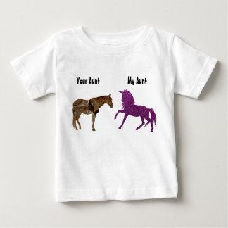 T-shirt Pour Bébé Ma licorne de pourpre de tante Your tante Horse