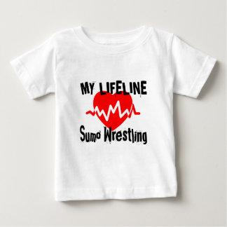 T-shirt Pour Bébé Ma ligne de vie lutte de sumo folâtre des