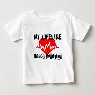 T-shirt Pour Bébé Ma ligne de vie volleyball de plage folâtre des