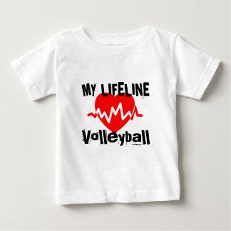 T-shirt Pour Bébé Ma ligne de vie volleyball folâtre des conceptions