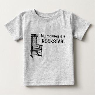T-shirt Pour Bébé Ma maman est une rockstar !