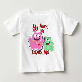 T-shirt Pour Bébé Ma tante Loves Me Monster