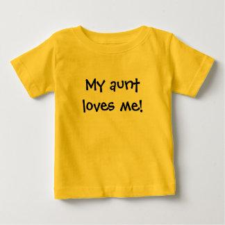 T-shirt Pour Bébé Ma tante m'aime !
