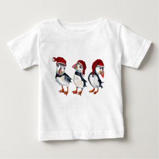T-shirt Pour Bébé Macareux de Noël