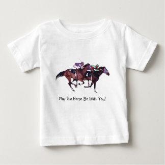 T-shirt Pour Bébé Mai le cheval soit avec vous !