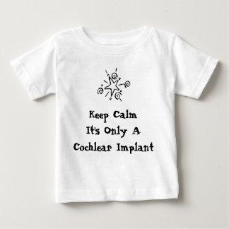 T-shirt Pour Bébé Maintenez calme - des tailles infantiles