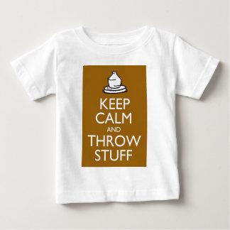 T-shirt Pour Bébé Maintenez substance calme et de jet