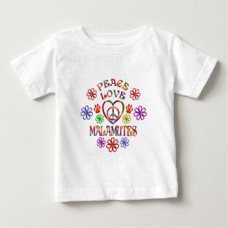 T-shirt Pour Bébé Malamutes d'amour de paix