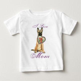 T-shirt Pour Bébé Maman de coeur de Malinois