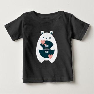 T-shirt Pour Bébé Maman, je t'aime avec tout mon Valentine