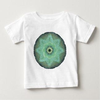 T-shirt Pour Bébé Mandala vert doux de fractale pour la méditation -