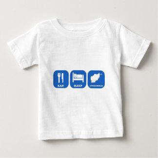 T-shirt Pour Bébé Mangez le sommeil Afghanistan