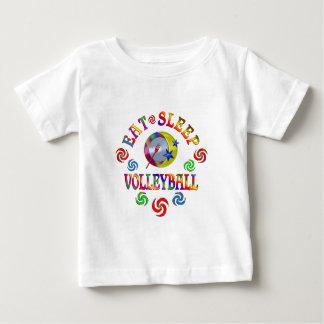 T-shirt Pour Bébé Mangez le volleyball de sommeil