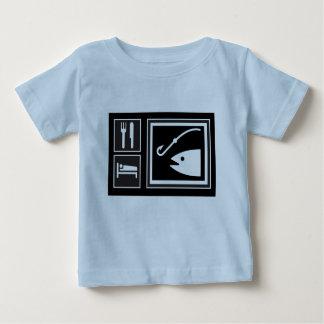 T-shirt Pour Bébé Mangez les POISSONS de sommeil !