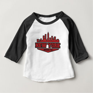T-shirt Pour Bébé Manuscrit de style de bloc de Brooklyn New York |