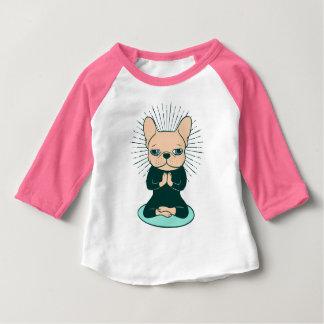 T-shirt Pour Bébé Méditez avec le Frenchie mignon pour rester le zen