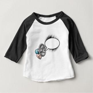 T-shirt Pour Bébé Mégaphone de bulle de la parole de bande dessinée