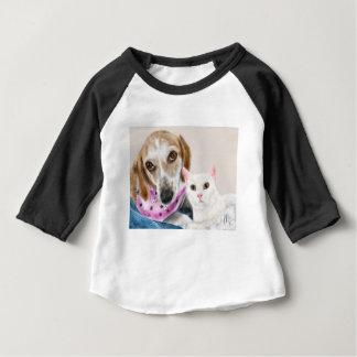 T-shirt Pour Bébé Meilleurs amis de chien et de chat
