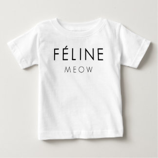 T-shirt Pour Bébé Meow félin