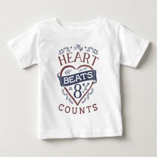 T-shirt Pour Bébé Mes battements de coeur dans la danse de 8 comptes
