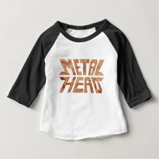 T-shirt Pour Bébé MetalHead rouillé