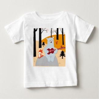 T-shirt Pour Bébé Mignon chantez un loup de renard de chanson d'été