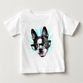 T-shirt Pour Bébé Mignon ! Hippie Boston Terrier