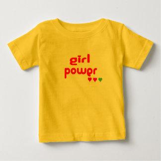 T-shirt Pour Bébé Mini je rétro puissance de fille