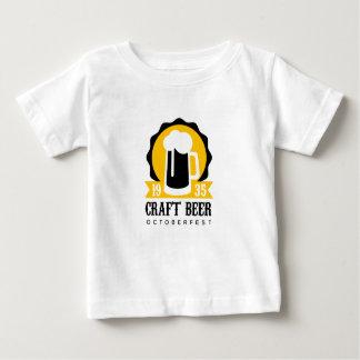 T-shirt Pour Bébé Modèle de conception de logo de bière de métier