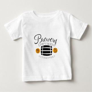 T-shirt Pour Bébé Modèle de conception de logo de brasserie avec le