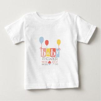 T-shirt Pour Bébé Modèle de conception d'invitation de baby shower