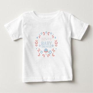 T-shirt Pour Bébé Modèle floral de conception d'invitation de baby