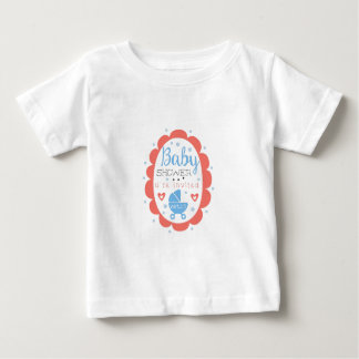 T-shirt Pour Bébé Modèle rond de conception d'invitation de baby