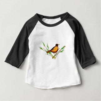T-shirt Pour Bébé Moineau se reposant sur la branche