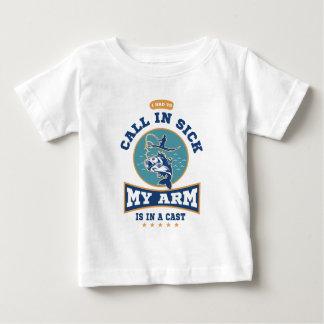 T-shirt Pour Bébé Mon bras est dans une fonte